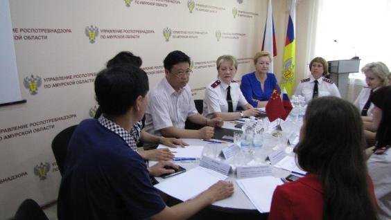 О рабочей встрече с Хэйхэйским управлением по инспекции и карантину ввоза и вывоза Китайской Народной Республики